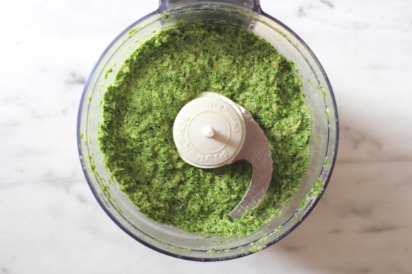 kale and garlic scape pesto
